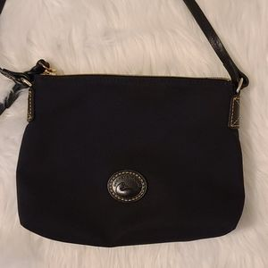 Dooney and Bourke black canvas and leather